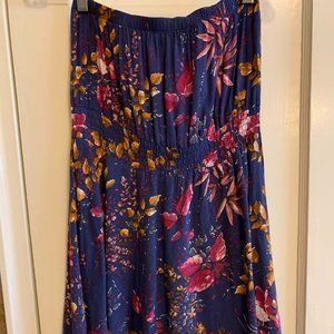 Forever 21 Floral Strapless Dress, Size S